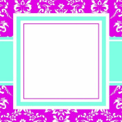 Three Designing Women Designer Self Adhesive Stickers, Pink Toile Collection