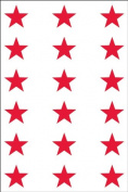 Ace Label 6012AL Teacher Star School Stickers, 1.9cm , Red, 10 Sheets