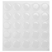 "100 pcs 1"" Clear Epoxy Adhesive Circles Dome Bottle Cap Seals Stickers 2mm Thick"