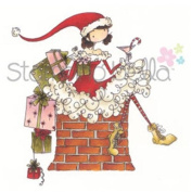 Stamping Bella Unmounted Rubber Stamp-Uptown Girl Charlie Waits By The Chimney