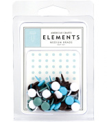 American Crafts Elements Medium Brads, Baby Boy