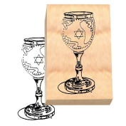 Ruth's Jewish Stamps Wood Mounted Rubber Stamp - Kiddush Cup
