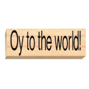 Ruth's Jewish Stamps Wood Mounted Rubber Stamp - Oy To World