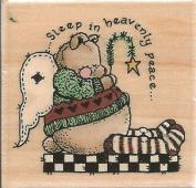 Sleep in Heavenly Peace Sandi Gore Evans Wood Mounted Rubber Stamp