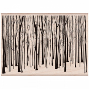 Hero Arts Mounted Rubber Stamps 7cm x 10cm , Winter Trees Pattern