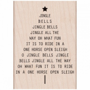 Hero Arts Mounted Rubber Stamps 10cm x 7.6cm -Jingle All The Way