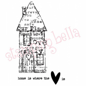 Stamping Bella Cling Rubber Stamp 10cm x 7.6cm -Artsy House