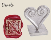Initial Wax Seal Stamp 1.9cm -Square Pewter Ornate Letter N
