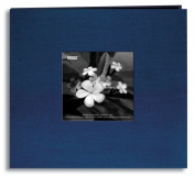 Pioneer Postbound Silk Fabric Frame Cover Memory Book, Lagoon Blue