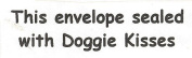 Dog Rubber Stamp - Sealed with Doggie Kisses-1005D (Size