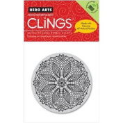 Hero Arts - Clings - Christmas - Repositionable Rubber Stamps - Circle Design