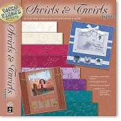 Hot Off The Press 12x12 Papers SWIRLS & TWIRLS For Scrapbooking, Card Making & Craft Projects