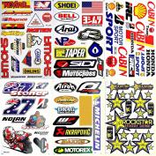 Motorcycles Motocross Dirt Bike Supercross ATV Lot 6 vinyl decal stickers D6012