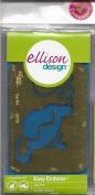 Ellison Design Easy Emboss Stencil - Tea Pot
