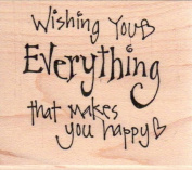 Wishing You Everything Wood Mounted Rubber Stamp
