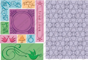 Cuttlebug All-in-One Embossing Plates, True Love