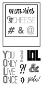 Fiskars 103770-1001 Clear Stamps, 10cm by 20cm , Say Cheese