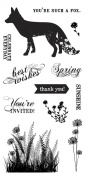 Fiskars 103780-1001 Clear Stamps, 10cm by 20cm , What a Fox