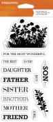 Fiskars 104260-1001 Clear Stamps, 10cm by 20cm , Celebrate Family