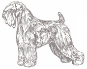 Dog Rubber Stamp - Soft Coated Wheaten-1F (Size