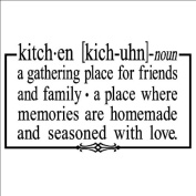 Kitchen a gathering place for friends and family 32cm x 50cm vinyl lettering wall sayings home décor art sticker decal quote word