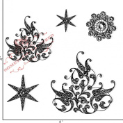 Something Tattered Brooch Bling Clear Stamps, 10cm by 10cm