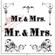 Something Tattered Mr. and Mrs. Clear Stamps, 10cm by 10cm