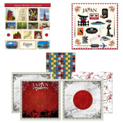 Scrapbook Customs Themed Paper and Stickers Scrapbook Kit, Japan Sightseeing