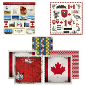 Scrapbook Customs Themed Paper and Stickers Scrapbook Kit, Canada Sightseeing
