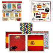 Scrapbook Customs Themed Paper and Stickers Scrapbook Kit, Spain Sightseeing