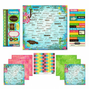 Scrapbook Customs Themed Paper and Stickers Scrapbook Kit, Jamaica Paradise