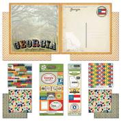 Scrapbook Customs Themed Paper and Stickers Scrapbook Kit, Georgia Vintage