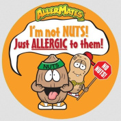 Allermates 10186 Peanut/Tree Nut Allergy Alert Stickers
