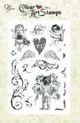 Crafty Secrets Medium Art Stamp, Cherubs, Clear