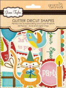 Grant Studios GT1584 Grace Taylor Glitter Diecut Shapes-Party Time