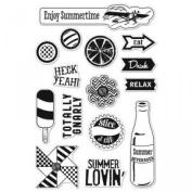 Summer Lovin' Repositionable Clear Stamps // Hero Arts