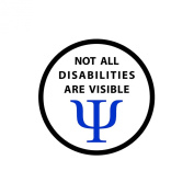 NOT ALL DISABILITIES ARE VISIBLE Black Rim Service Dog 6.4cm Sew-on Patch