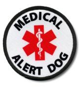 MEDICAL ALERT DOG Black Rim 6.4cm Sew-on Patch