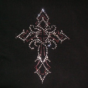 Swirly Cross Iron On Rhinestone Crystal Transfer by Jubilee Rhinestones