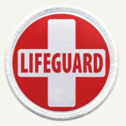LIFEGUARD RED WHITE Fire and Rescue Heroes 6.4cm Sew-on Patch