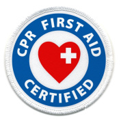 CPR FIRST AID CERTIFIED Fire and Rescue Heroes 6.4cm Sew-on Patch