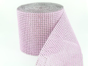 Sparkles Make It Special 24 Row Value Mesh Crystal Rhinestone Look Ribbon Wedding Cake Banding 1 yard Pink