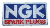 NGK SPARK PLUGS Racing Motorcycle Car Blue Logo PN05 Patches