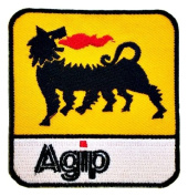 Agip Oil Lubricant Racing F1 Formula1 one Logo t Shirts GA01 patches