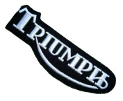 Triumph Motorcycles Racing Vintage Logo Clothing BT04 Embroidered Patches
