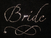 Bride -Large- Iron On Rhinestone Crystal T-shirt Transfer by Jubilee Rhinestones