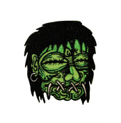 Kruse Artist Patch - 7cm Shrunken Voodoo Dead Head