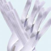 Unique Invisible Zipper 60cm ~ YKK #3 Conceal ~ Heavy Duty ~ 501 White