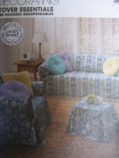 McCall's 9161 Sewing Pattern for Furniture Couch Chair Ottoman Slip Covers Square Round Pillows