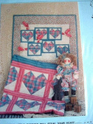 BUNNIES IN MY HEARTS QUILTING PATTERN -QUILT OR WALL QUILT SEWING PATTERN